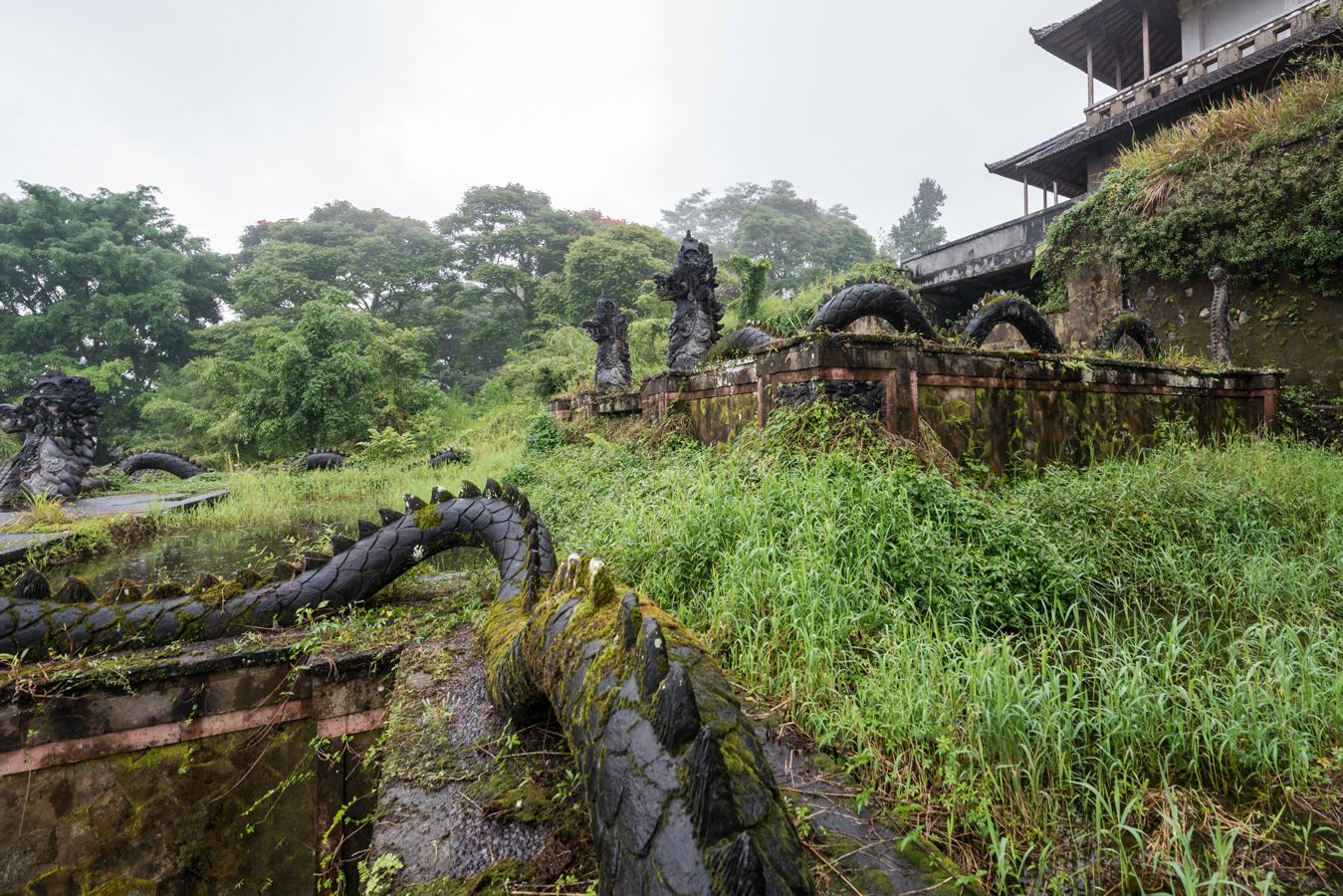 Image of abandoned Bali hotel