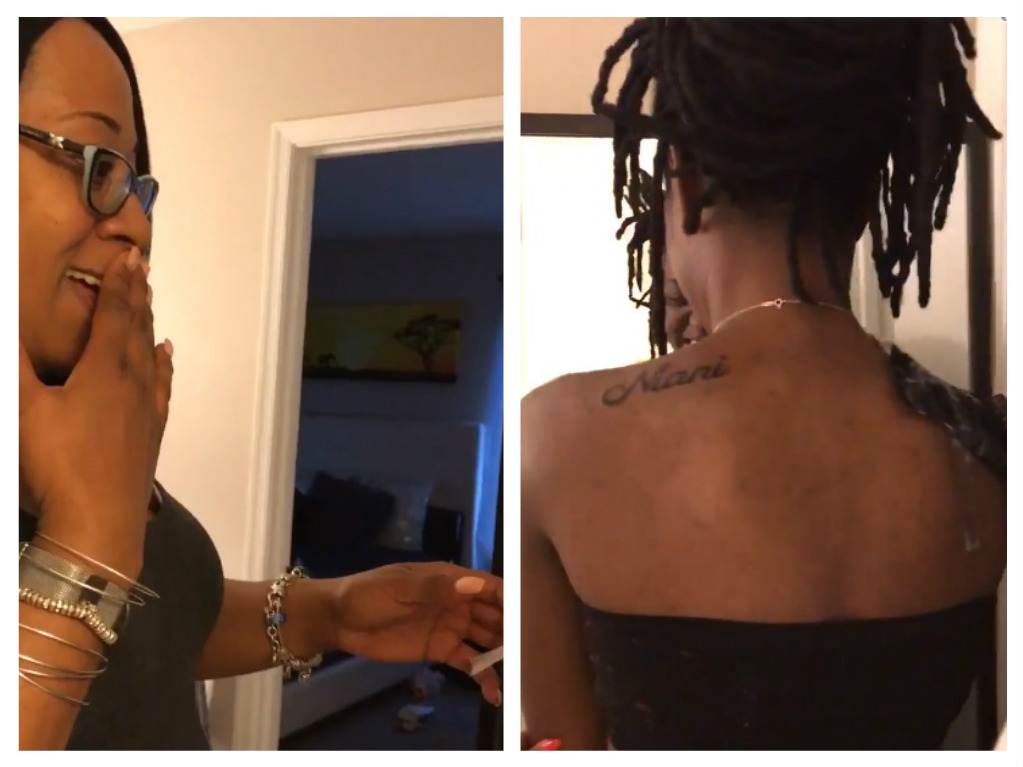 parents react to daughters tattoo