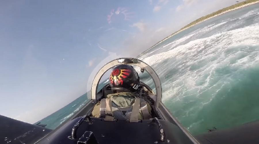 pilot flies plane low to ground