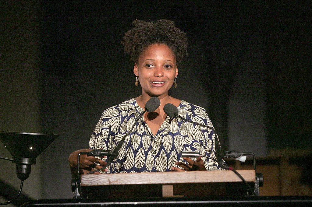 NEW YORK, NY - JUNE 11: Poet Tracy K. Smith attends the 17th annual Poets House Poetry Walk Across The Brooklyn Bridge on June 11, 2012 in New York City. (Photo by Jim Spellman/WireImage)