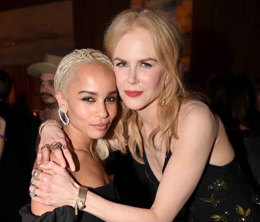 "Zoe Kravitz and Nicole Kidman attend the premiere of ""Big Little Lies"""