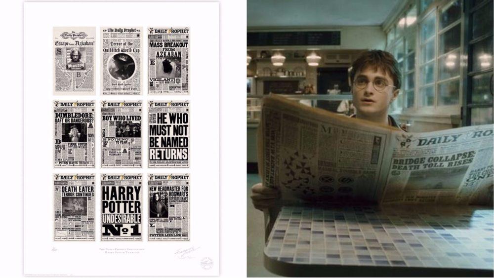 MinaLima Harry Potter Prints