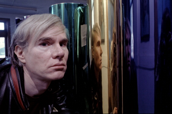 Andy Warhol photographed in 1968 at the factory at 33 Union Square West. (Photo by Jack Mitchell/Getty Images)