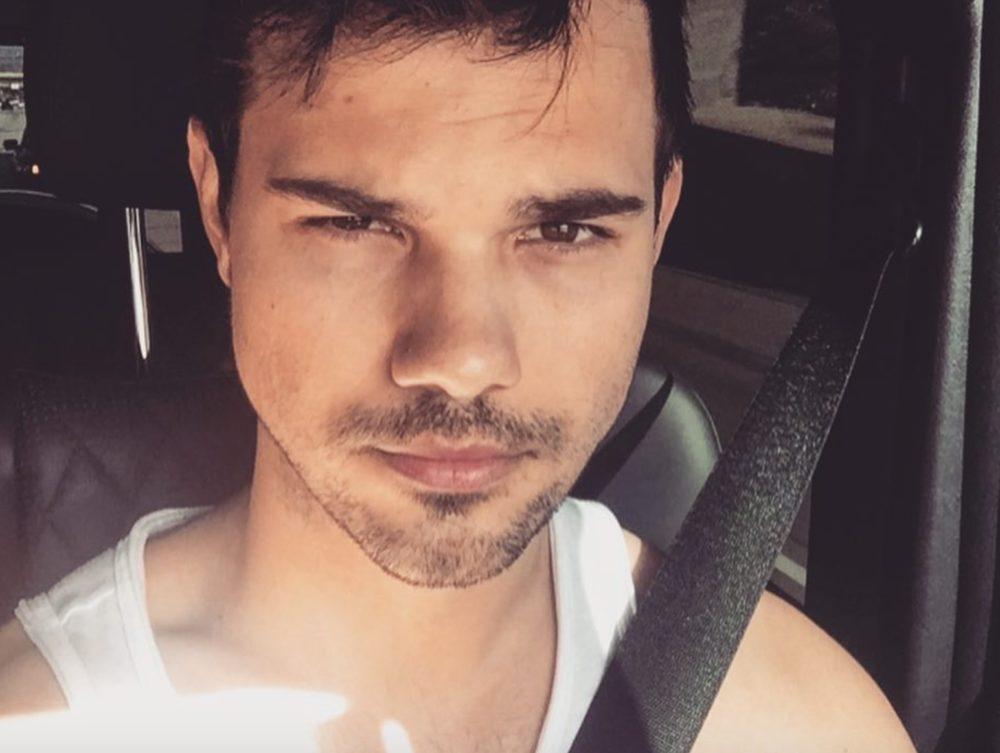 Taylor Lautner driving car