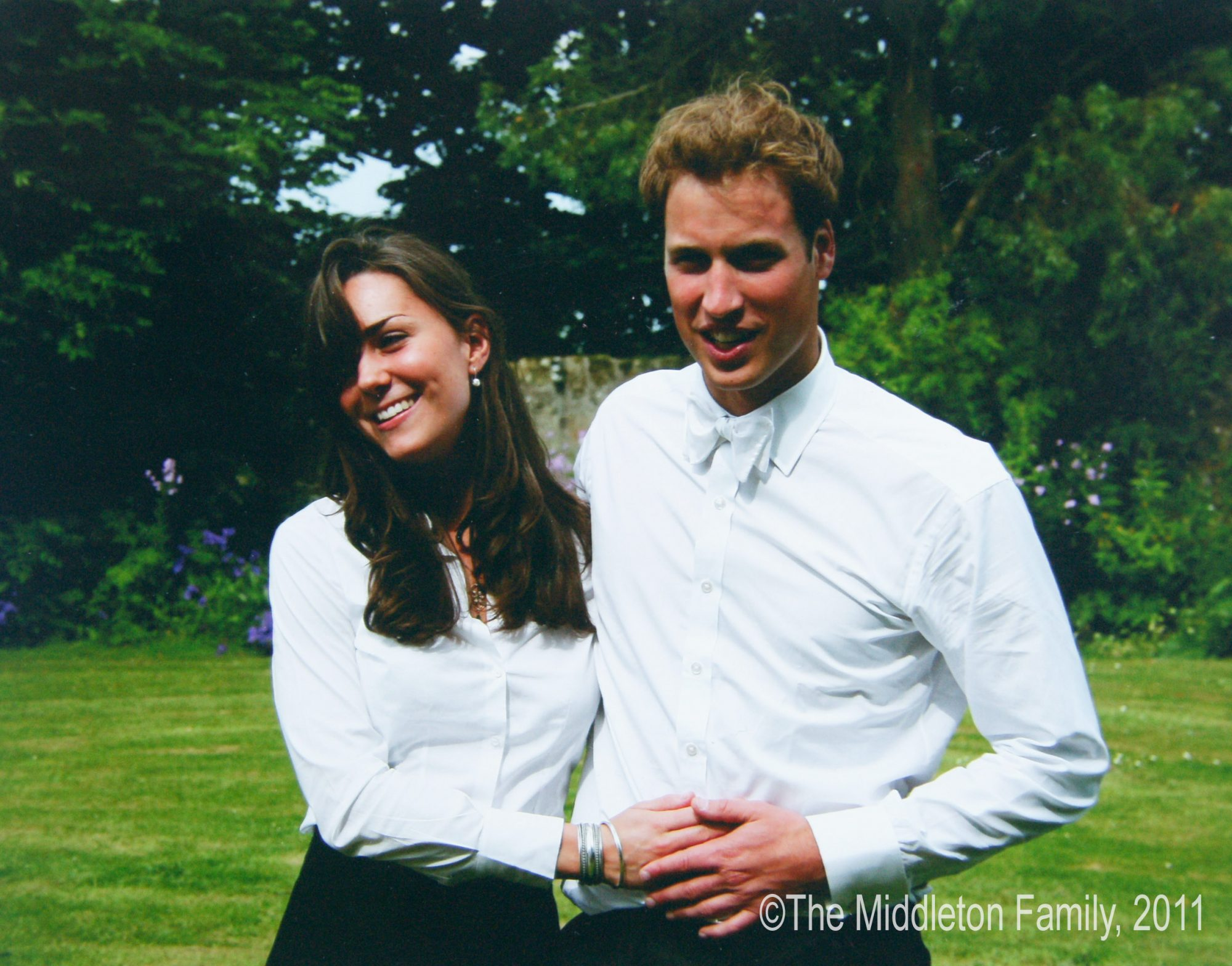 Prince William and Kate Middleton on their graduation day