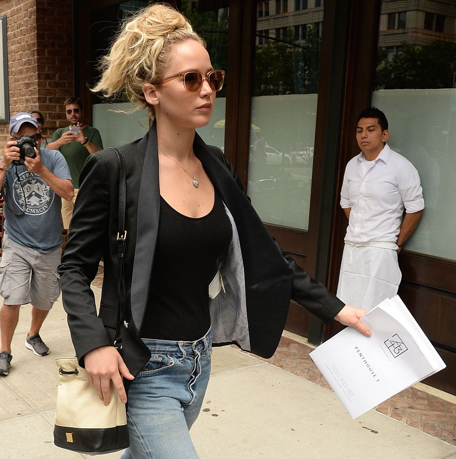 Actress Jennifer Lawrence is seen in Tribeca on July 6, 2015 in New York City