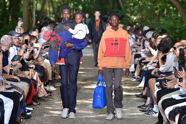 Models walk the runway at the Balenciaga Spring Summer 2018 fashion show during Paris Menswear Fashion Week on June 21, 2017 in Paris, France. (Photo by Catwalking/Getty Images)