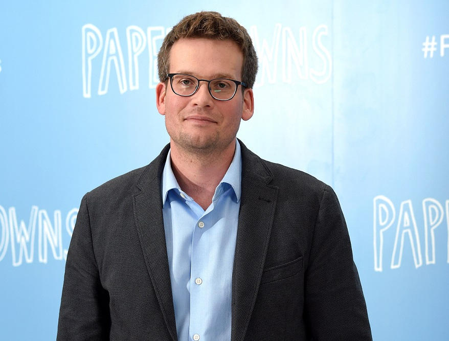 """John Green attends a """"Paper Towns"""" photocall in London on June 18, 2015"""