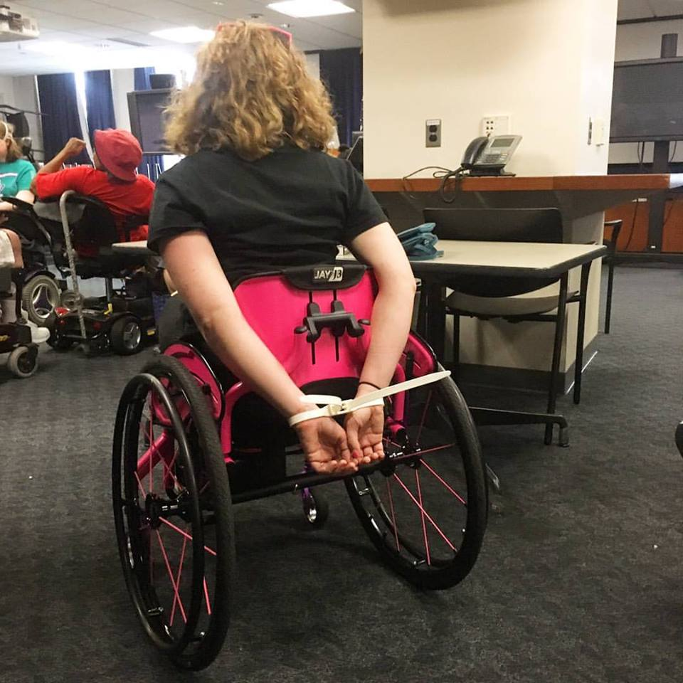 Disability rights activist Stephanie Woodward