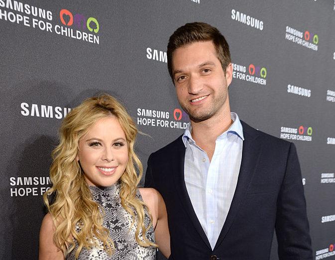 Tara Lipinski (L) and Todd Kapostasy attend Samsung Hope For Children Gala 2015 at Hammerstein Ballroom on September 17, 2015 in New York City.