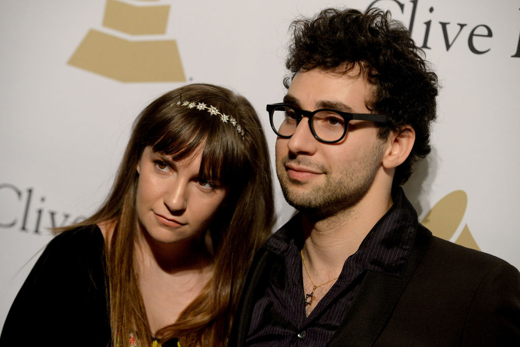 Actress Lena Dunham (L) and musician Jack Antonoff (R) attend the 2017 Pre-GRAMMY Gala And Salute to Industry Icons Honoring Debra Lee at The Beverly Hilton Hotel
