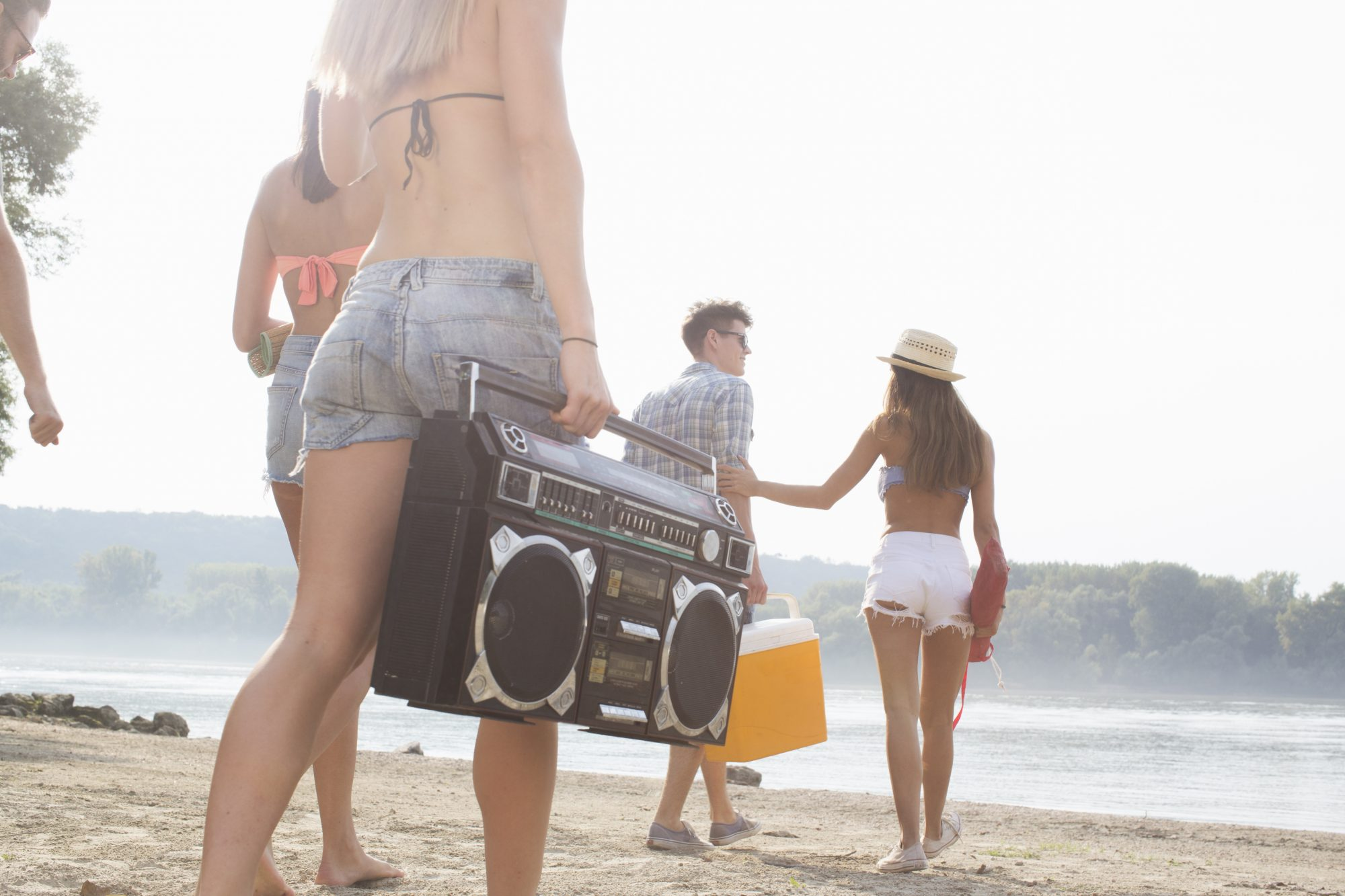 Image of a beach party