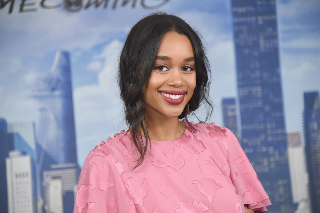 Actress Laura Harrier at the Spider-Man: Homecoming photo call in New York.