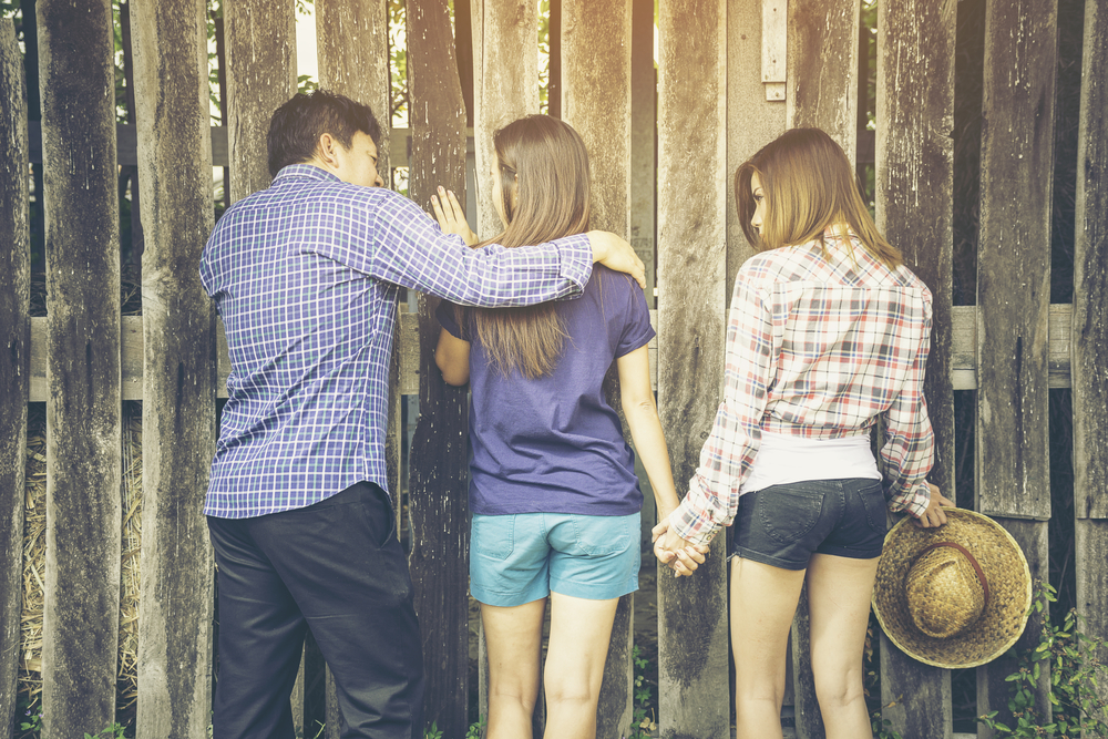 Couple with a guy.