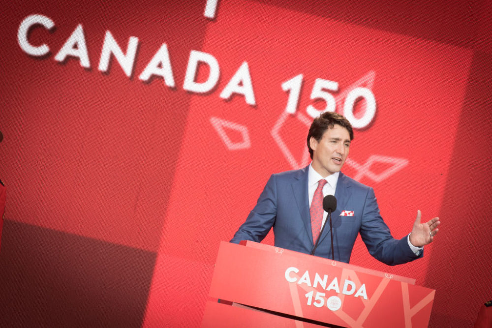 Justin Trudeau at Canada Day 150