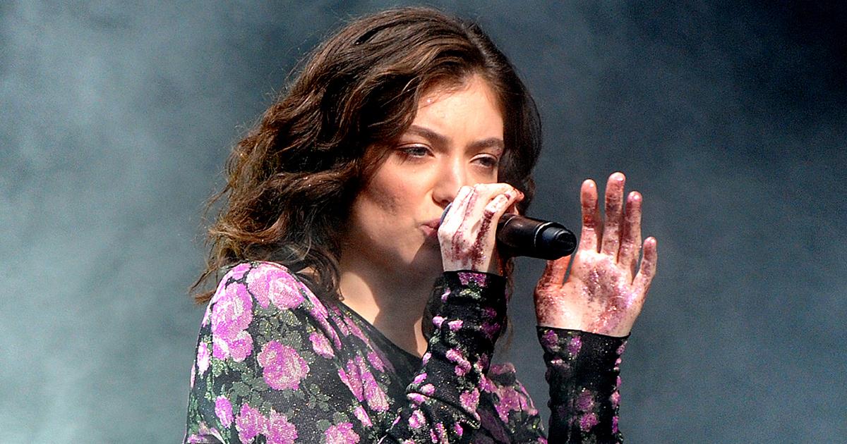 Lorde performing at Glastonbury Festival