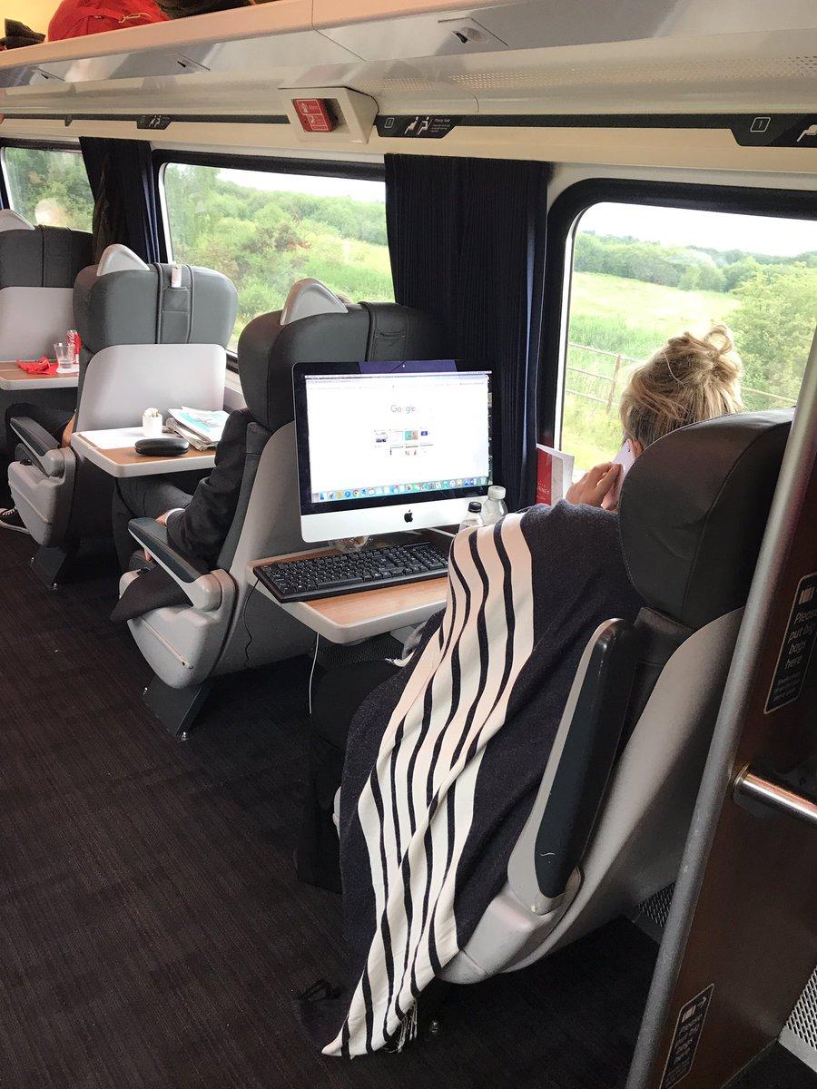 iMac on commuting train