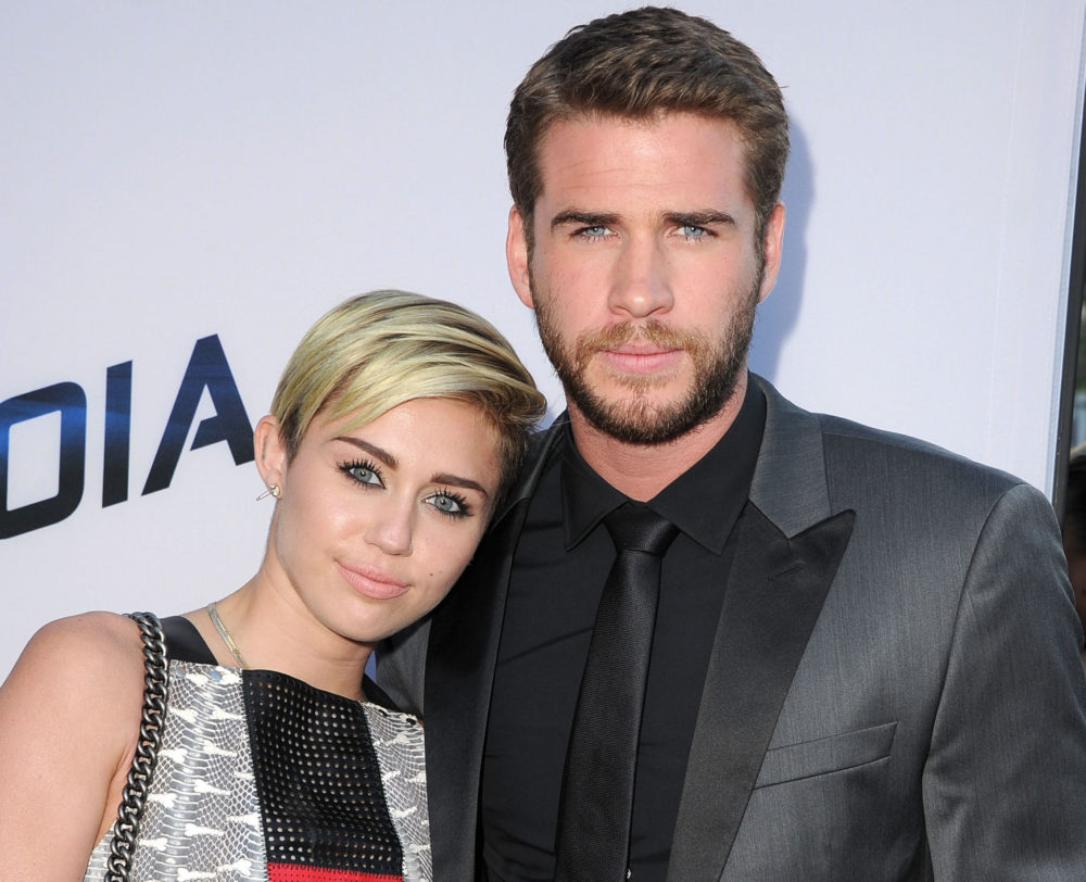 Image of Miley Cyrus and Liam Hemsworth