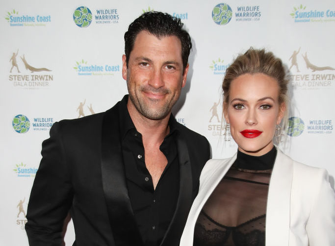 Maksim Chmerkovskiy and Peta Murgatroyd attend the Steve Irwin Gala Dinner at the SLS Hotel at Beverly Hills on May 13, 2017 in Los Angeles, California.