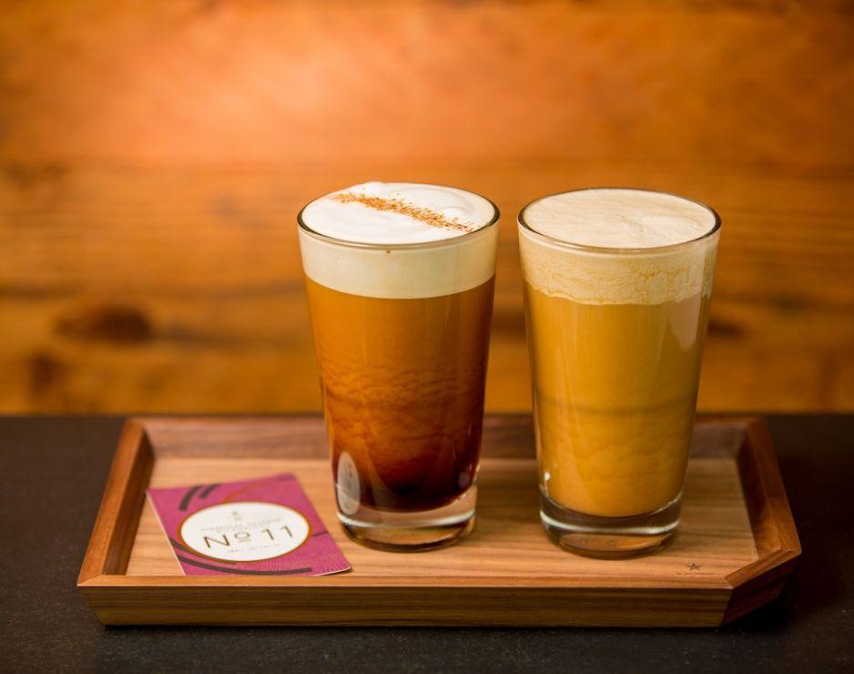 two glasses of Starbucks Nitro Cold Brew