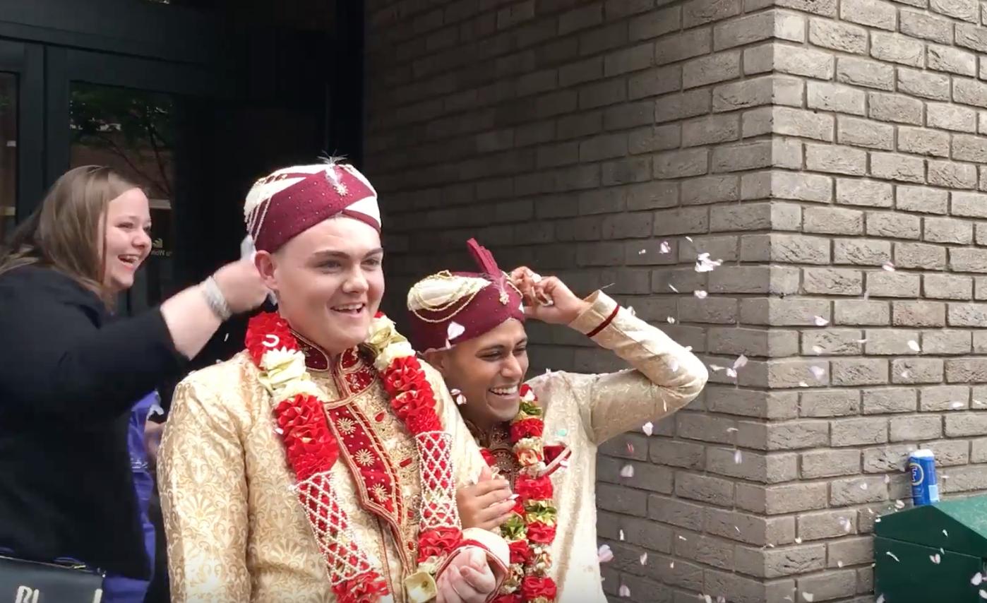 the first Muslim gay wedding in the U.K.