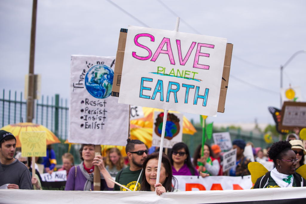 PORTLAND, OR - APRIL 29: The People's Climate Change March in Portland, Oregon, as a part of an international day of action on climate change in many cities of the world on April 29, 2017. (Photo by Diego Diaz/Icon Sportswire via Getty Images)