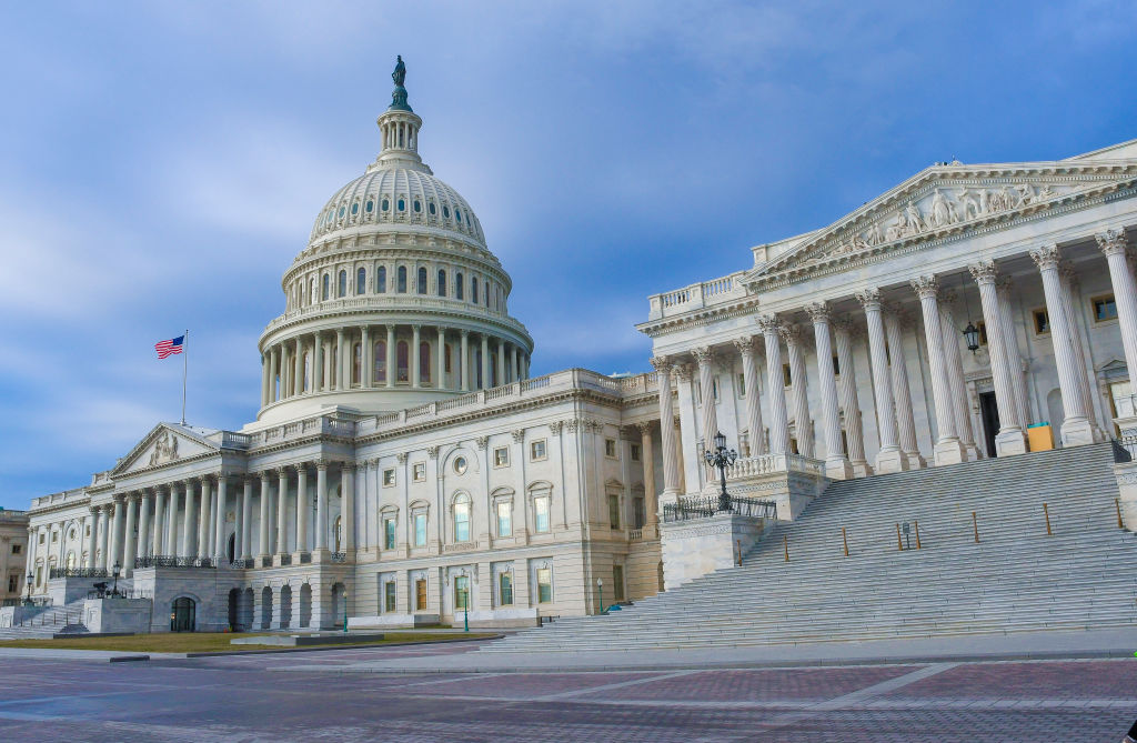 Exterior view of the US Capitol building, Washington DC, January 18, 2017. (Photo by Mark Reinstein/Corbis via Getty Images)