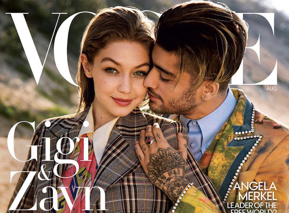 Vogue cover with Gigi Hadid and Zayn Malik