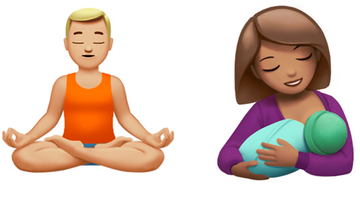 new emojis breastfeeding woman