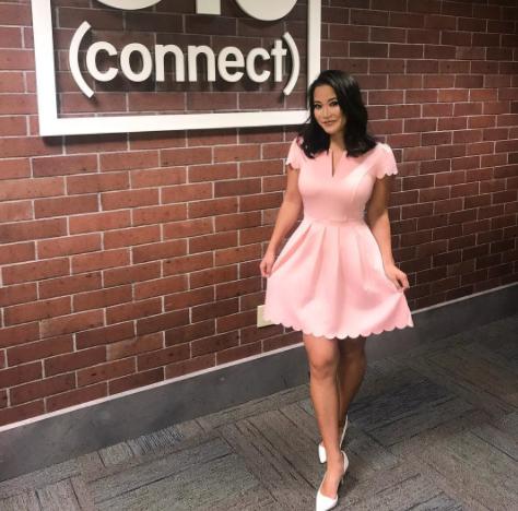 Image of Amazon news anchor dress