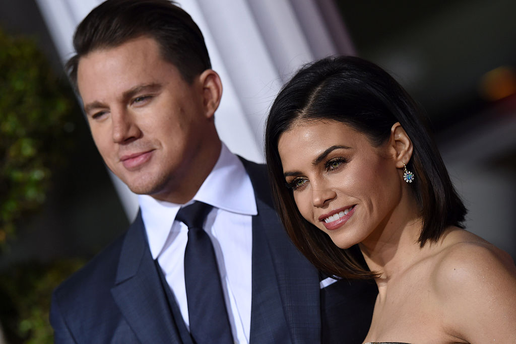 Actors Channing Tatum and Jenna Dewan-Tatum arrive at the premiere of Universal Pictures' 'Hail, Caesar!' at Regency Village Theatre on February 1, 2016 in Westwood, California.
