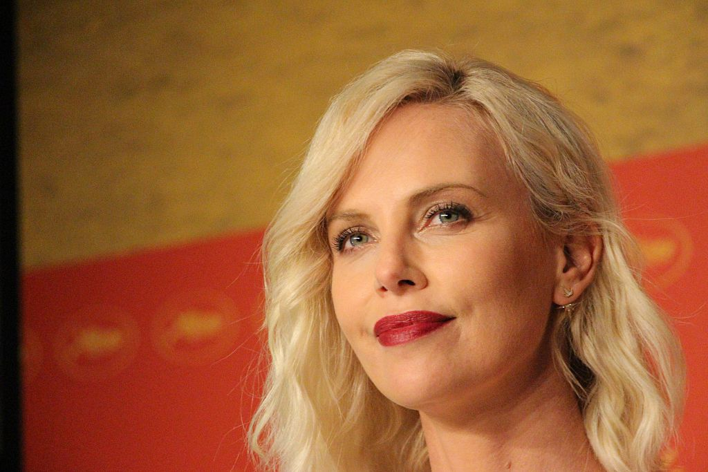 Charlize Theron on a red carpet.