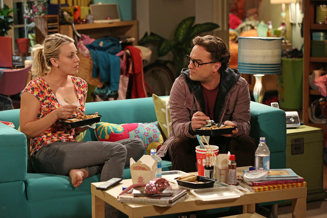 Picture of Penny and Leonard Big Bang Theory