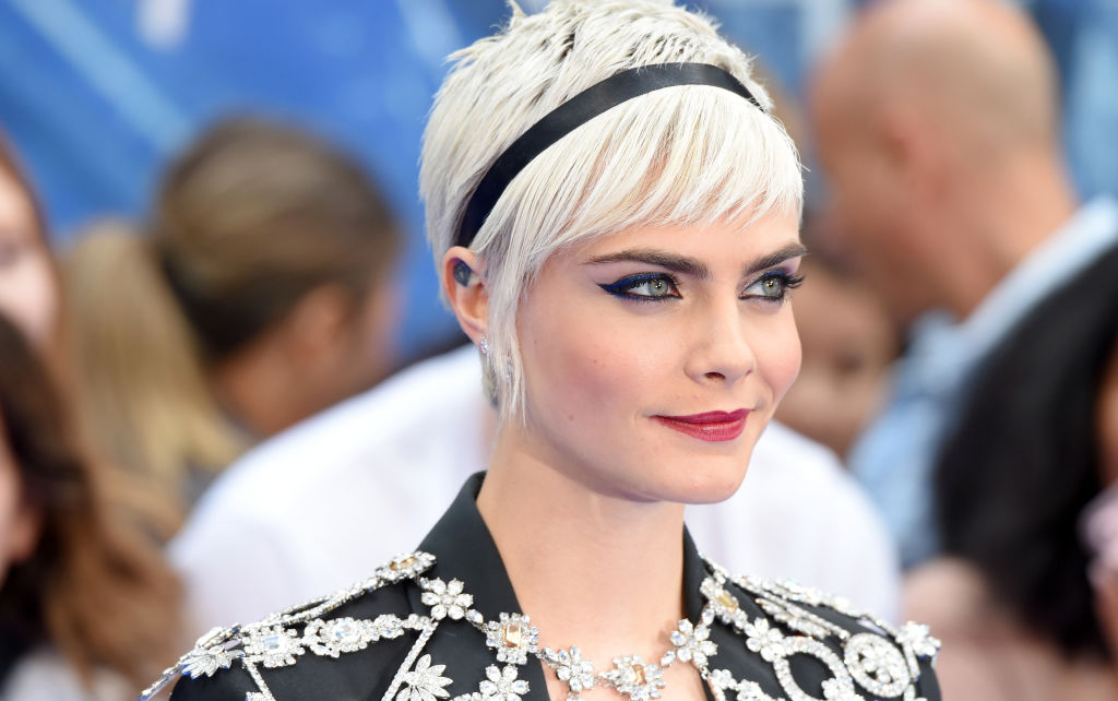 """Cara Delevingne attends the """"Valerian"""" European premiere at Cineworld Leicester Square on July 24, 2017 in London, England. (Photo by Anthony Harvey/Getty Images)"""