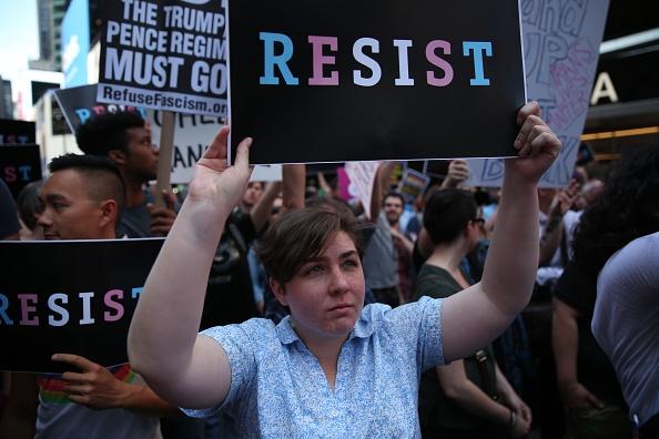 transgender military protest