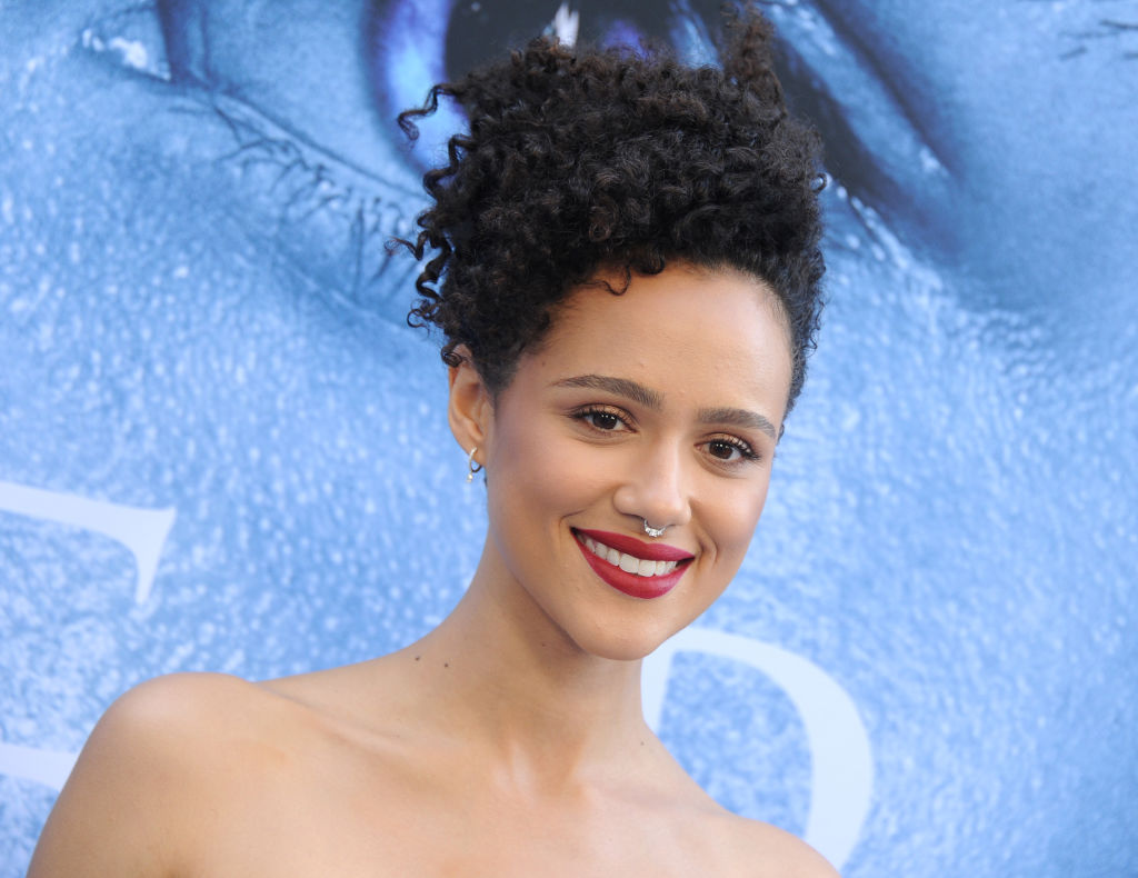 "Nathalie Emmanuel arrives at the premiere of HBO's ""Game Of Thrones"" Season 7 at Walt Disney Concert Hall on July 12, 2017 in Los Angeles, California."