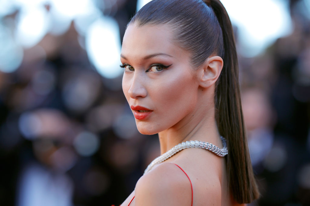 """Bella Hadid attends the """"Okja"""" screening during the 70th annual Cannes Film Festival at Palais des Festivals on May 19, 2017 in Cannes, France."""