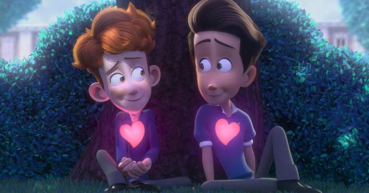 """A still from """"In a Heartbeat"""""""