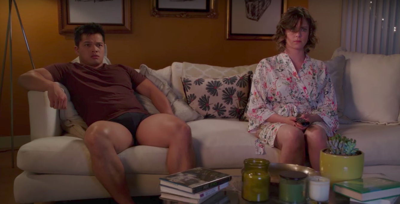 """Crazy ex girlfriend still from """"we definitely should not have sex right now."""""""
