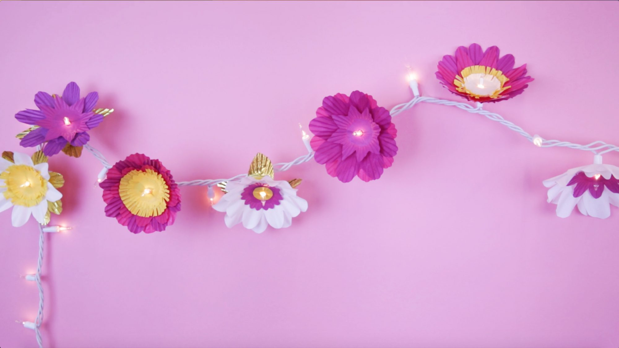 DIY Cupcake Flower Lights