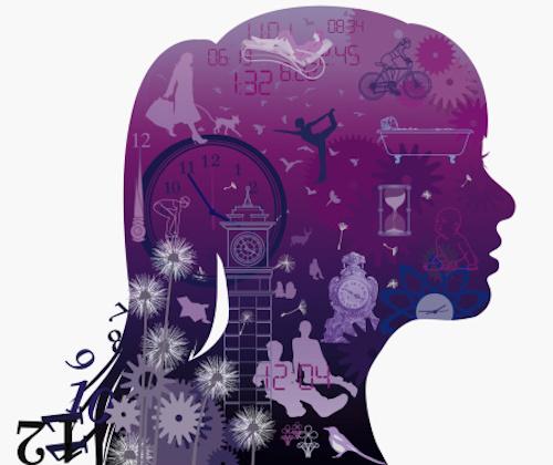 Illustration of woman's mind