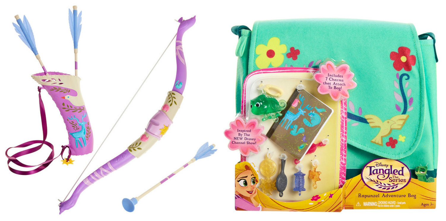 Tangled: The Series Rapunzel Bow & Arrow and Tangled: The Series Rapunzel Adventure Bag