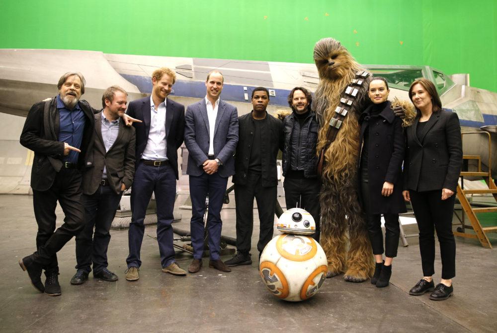 Last Jedi Princes Harry William