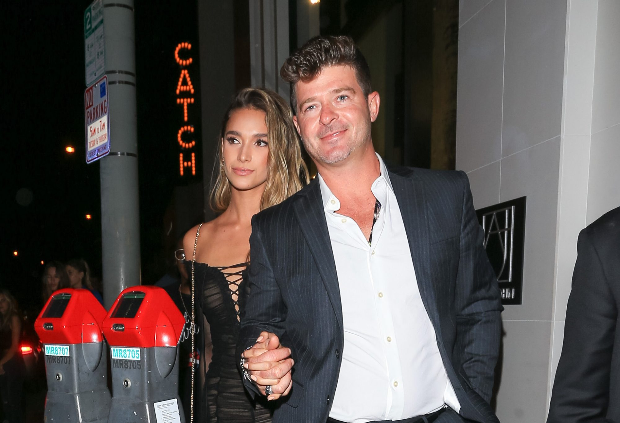 Image of Robin Thicke and April Geary
