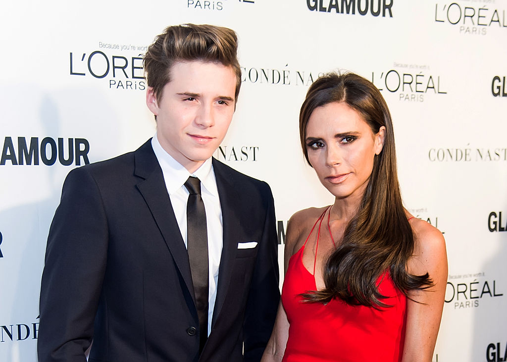 Brooklyn Beckham and mother fashion designer/singer Victoria Beckham attend Glamour's 25th Anniversary Women Of The Year Awards at Carnegie Hall on November 9, 2015 in New York City.