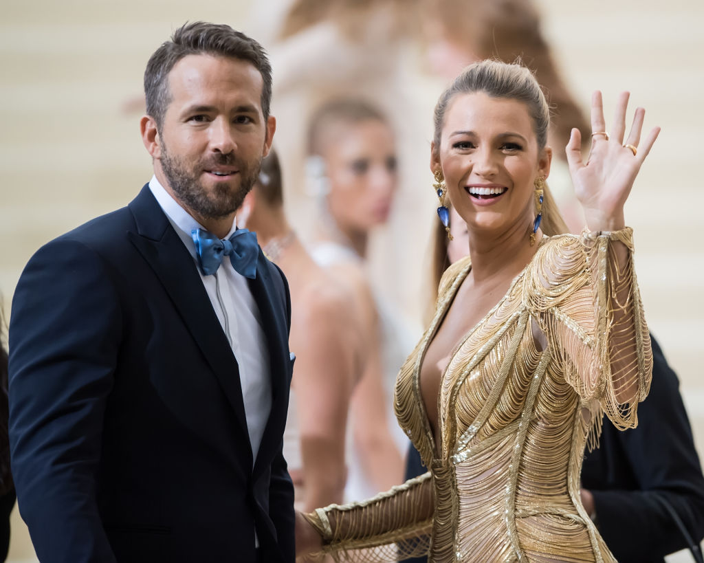 Ryan Reynolds (L) and Blake Lively are seen at the 'Rei Kawakubo/Comme des Garcons: Art Of The In-Between' Costume Institute Gala at Metropolitan Museum of Art on May 1, 2017 in New York City.