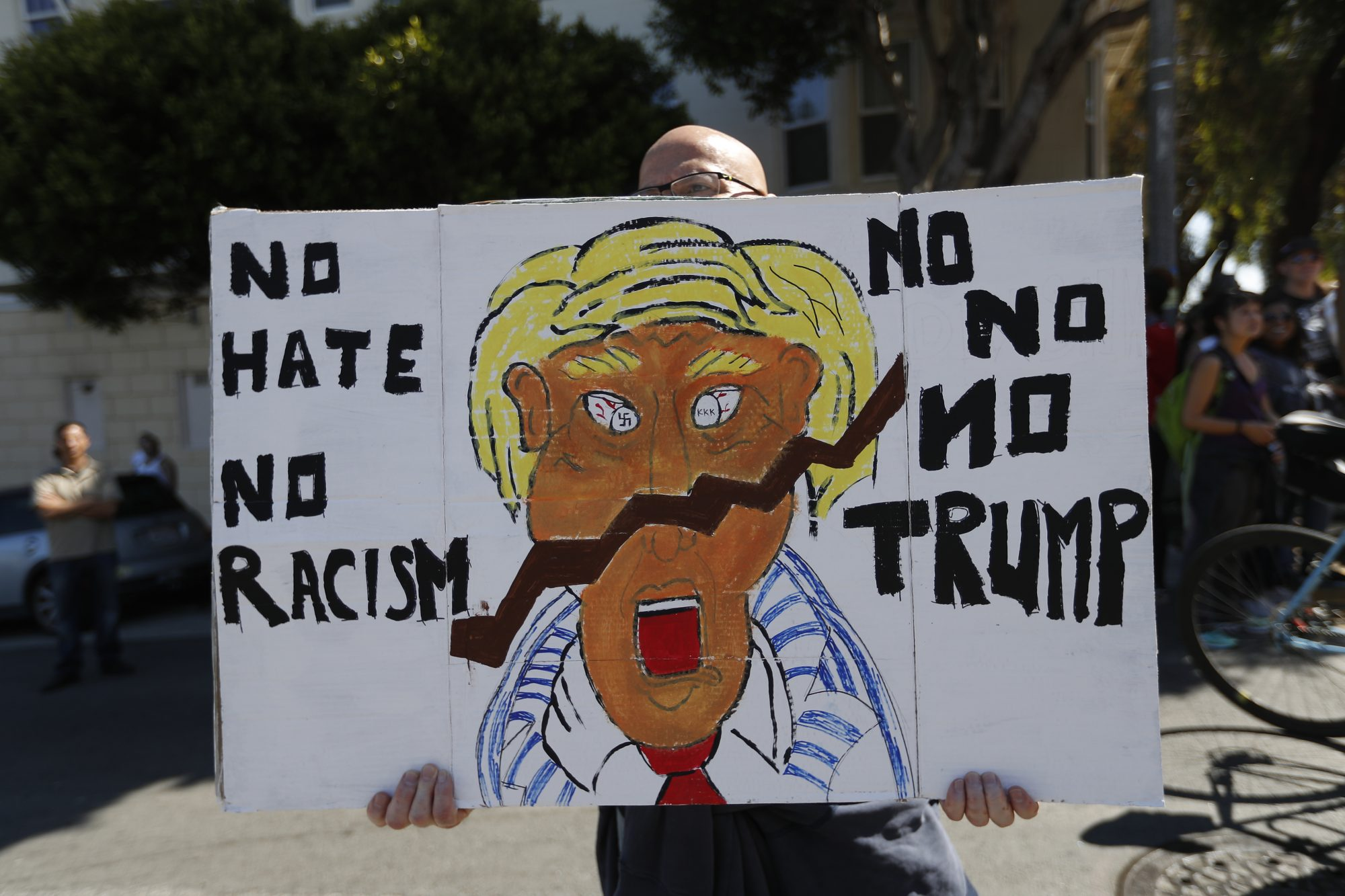 Alt Right Protesters Hold News Conference In San Francisco After Cancelling Rally, Amid Counter Demonstrations Planned