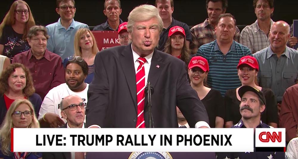 Alec Bladwin as Trump on SNL Weekend Update