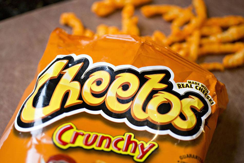 Open bag of Cheetos