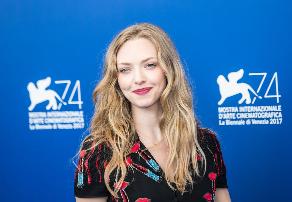 """Amanda Seyfried poses during a photocall for the movie """"First Reformed"""" at the 74th Venice Film Festival in Venice, Italy, on Aug. 31, 2017."""